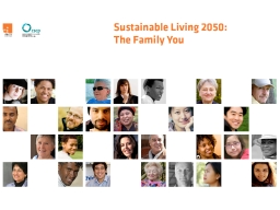 SUSTAINABLE LIVING 2050: THE FAMILY OF YOU